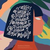 Ilustración para Fundación Marín con Hilda Palafox. Un projet de Illustration , et Calligraphie de Joaquín Seguí - 18.12.2019