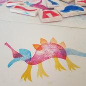 My project in Stamping Techniques for Children course. Um projeto de Estampagem de piko_piko - 29.12.2019