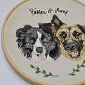 Foster & Amy . A Stickerei project by Valentina Castillo - 04.01.2020
