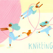 Knitting Time. Un proyecto de Ilustración de Núria Ventura - 20.12.2019