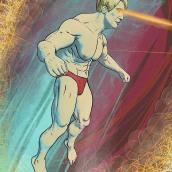 Ilustración Super Heroe. A Illustration, and Digital illustration project by Esteban Belvís - 01.09.2020