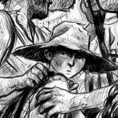 Los Irlandeses. Un progetto di Disegno a matita di Santiago Guevara - 18.08.2017