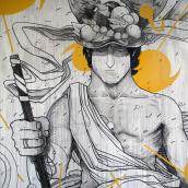 Mural para Amazon. Un progetto di Illustrazione , e Pittura di Aleix Gordo Hostau - 12.09.2017