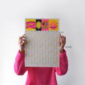 Calendario 2020. Un proyecto de Diseño gráfico de Antton Ugarte Ibarrondo - 13.01.2020