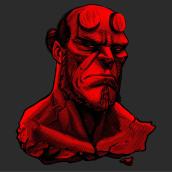 Hellboy. Un progetto di Illustrazione di Abraham García - 16.01.2020