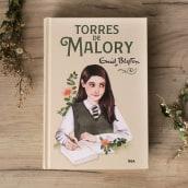 """Ilustración para """"Torres de Malory"""" de Enid Blyton con RBA Molino. Un proyecto de Diseño editorial e Ilustración de Paqui Cazalla - 31.10.2019"""