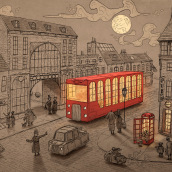 Momento in London. A Illustration project by Joel Santana - 09.20.2018