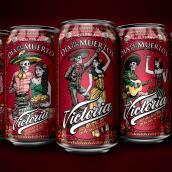 Cerveza victoria, Día de los muertos. Un progetto di Illustrazione , e Packaging di Abraham García - 22.01.2020