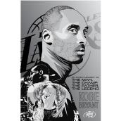 In loving memory of Kobe Bryant. Un proyecto de Diseño, Diseño gráfico, Ilustración vectorial e Ilustración de retrato de Rafael Cortes Casas - 28.01.2020