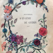 journal d'Eugénie de Guérin, París, 1912. A Collage, and Embroider project by Daniel Herrera - 01.29.2020