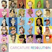 CARICATURE RESOLUTION 2020. Un proyecto de Cómic de Raúl Salazar - 01.02.2020