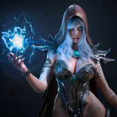 Witch. A 3D, 3d modeling, Video game, 3D Character Design, Design 3D, and Game Development project by Manu Herrador - 02.03.2020