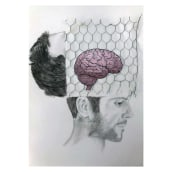 Poema Visual - Frontera. A Pencil drawing, Drawing, and Portrait Drawing project by Eryka Ilarreta - 02.03.2020