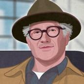 Tinker Hatfield. Un proyecto de Ilustración digital, Ilustración de retrato y Dibujo de Retrato de Capi Cabrera - 04.02.2020