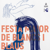 Festa Major de Blancs i Blaus 2019. Un proyecto de Diseño gráfico e Ilustración de Enric Lax Sulé - 24.08.2020