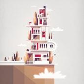 Architecture_01. Un proyecto de Ilustración, Arquitectura, Ilustración vectorial e Ilustración digital de Ricardo Polo López - 17.02.2020