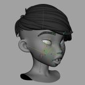 Prueba de deformación facial. A Rigging, Character animation, and 3D Animation project by Iker J. de los Mozos - 02.18.2020