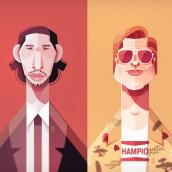 Actors_02. Un proyecto de Ilustración, Ilustración vectorial e Ilustración digital de Ricardo Polo López - 19.02.2020