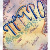 Meu projeto do curso: Caligrafia com pincéis de água para principiantes. A Calligraph project by Tereza Leme - 02.20.2020