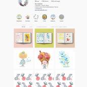 Mi Proyecto del curso: Creación de un porfolio de ilustración en Instagram. Un projet de Design  de alice Caldarella - 27.02.2020