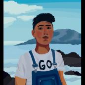 Mi Proyecto del curso: Pinceles y pixeles: introducción a la pintura digital en Photoshop.. Un proyecto de Dibujo de Retrato y Pintura de Erick GV - 29.02.2020