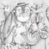 La visita de la banda/Microrelato silente. A Verlagsdesign, Illustration und Kinderillustration project by Paula Bossio - 01.06.2017