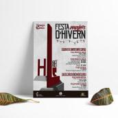 Cartel Festa d'hivern 2020. Un proyecto de Diseño de carteles de Patricia PHP - 04.03.2020