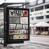 Cartel Skafesta (trobada de tabalers). Un proyecto de Diseño de carteles de Patricia PHP - 04.03.2020