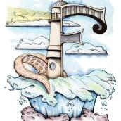 ilustracion letra F de faro. A Illustration project by Alexander Fábrega Cogley - 08.03.2020