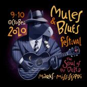Mules'n'Blues festival. Um projeto de Ilustração de David de Ramón - 01.01.2020