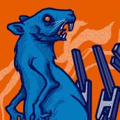 Gig Poster : Battles. Un progetto di Design, Illustrazione, Graphic Design, Design di poster  e Illustrazione digitale di Mike Sandoval - 20.02.2020