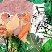 Mi Proyecto del curso: Retrato ilustrado en acuarela. A Illustration, Fine Art, Watercolor Painting, Portrait illustration, and Portrait Drawing project by Loan Poulet Fernández - 03.11.2020