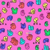 GIF animados para GIPHY. A Illustration, Animation, and 2D Animation project by María Grande Estévez - 08.10.2019