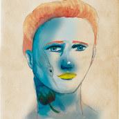 Mi Proyecto del curso: Retrato ilustrado en acuarela. Un progetto di Illustrazione digitale, Disegno di ritratto e Illustrazione di ritratto di Estela Sanz - 17.03.2020