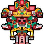 Guerrero del Mictlan. A Design, Illustration, Design von Figuren, Vektorillustration, Kreativität und Modedesign project by Barhlo - 08.10.2019