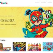 Portafolio de ilustración con WordPress. A Design, Illustration, Web Design, Web Development, and Creativit project by Alietta Carbajal - 03.18.2020