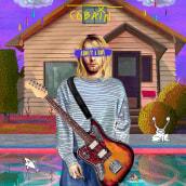 Kurt Cobain, About a boy.. Un projet de Illustration de Alex de Marcos García - 19.03.2020