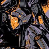 MechaFighters Z. Un projet de Conception d'affiche de Wes Art Studio - 23.03.2020