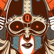 Queens Of The Stone Age. Un projet de Conception d'affiche de Wes Art Studio - 23.03.2020