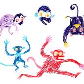 Todos mis mundos. Un progetto di Illustrazione, Character Design e Illustrazione infantile di Julián David Jiménez Ariza - 25.03.2020