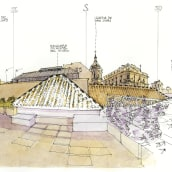 Panorama Museo Carmen Thyssen. A Drawing, and Architectural illustration project by Luis Ruiz Padrón - 03.30.2020