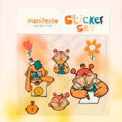 Sticker set. A Animation, Character animation, and 2D Animation project by Orlando Korzo - 03.30.2020