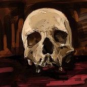 Calavera-Skull. Um projeto de Ilustração digital de Jose Torres - 31.03.2020