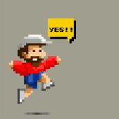 PIXEL JOHNNY aka Juan C-Felgueroso Vallespín. Un proyecto de Ilustración, Diseño gráfico y Pixel art de Alejandro Mazuelas Kamiruaga - 02.04.2020