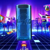 McDONALD'S COKE GLASSËR. A Advertising, Motion Graphics, Animation, 2D Animation, and 3D Animation project by DON PORFIRIO - 07.10.2019