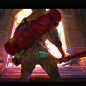 Entering the Pizzathedral 🍕. Un projet de Jeux video , et Art conceptuel de Nacho Yagüe - 03.04.2020