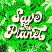 Save the planet!. Un projet de T, pographie, Calligraphie, Lettering, Calligraphie avec brushpen, Design t, pographique, H , et lettering de Ale Hernández - 03.04.2020