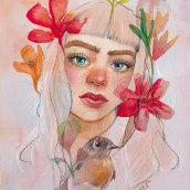 Mi Proyecto del curso: Retrato ilustrado en acuarela. A Portrait Drawing, Portrait illustration, and Watercolor Painting project by uxueazkonailustracion - 04.06.2020