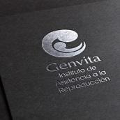 Logo Genvita - Reproductive Medicine Institute. Un proyecto de Br, ing e Identidad, Diseño de logotipos y Diseño gráfico de Paulina Vitti - 10.03.2017