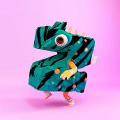 Monster Clothes Alphabet. Um projeto de 3D, Animação de personagens, Animação 3D, Design de moda, Modelagem 3D, Design de personagens 3D, 3D Design e Lettering 3D de Bernat Casasnovas Torres - 08.04.2020